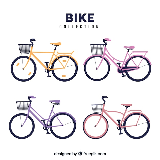 Bicycle set with basket