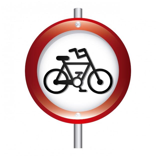 自転車信号グラフィックデザインベクトルイラスト 無料ベクター