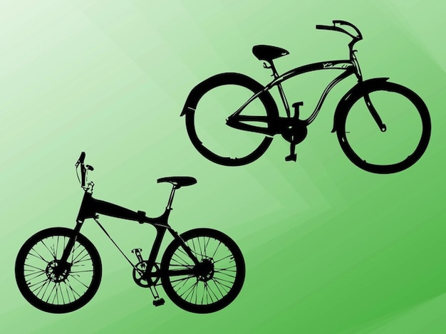 Bicycle vehicle outlines vector\ silhouettes