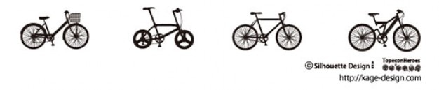 Bicycles. different styles.