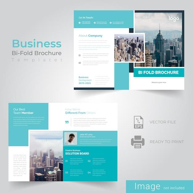 Bifold brochure template Premium Vector