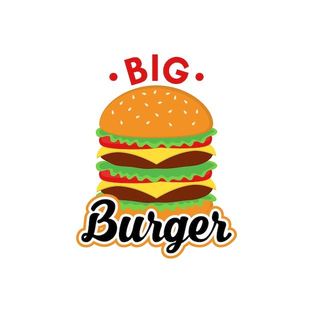 Большой вектор дизайна логотипа burger Premium векторы