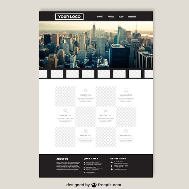 Big City Elegant Website Template Vector Free Download
