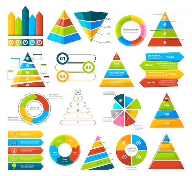 Big  collection of infographic elements Premium Vector