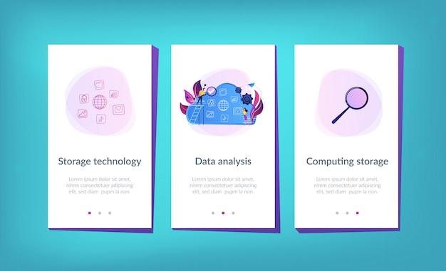 Big data app interface template. Premium Vector