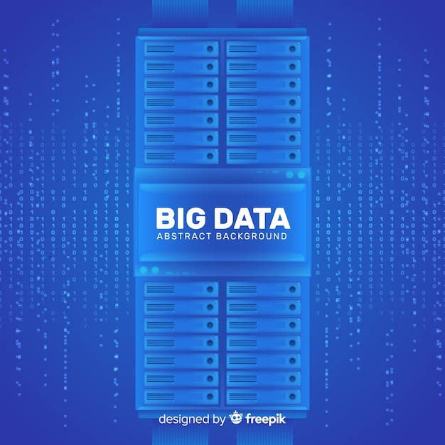 Big data background in abstract style design Free Vector