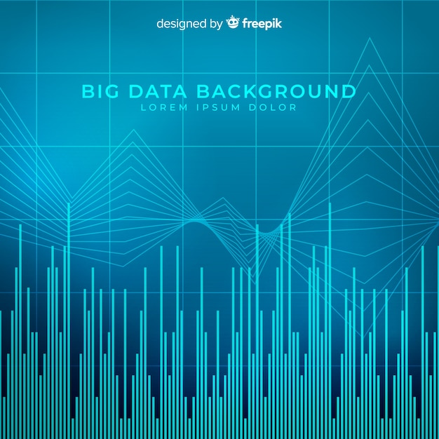 Big data background in abstract style Free Vector