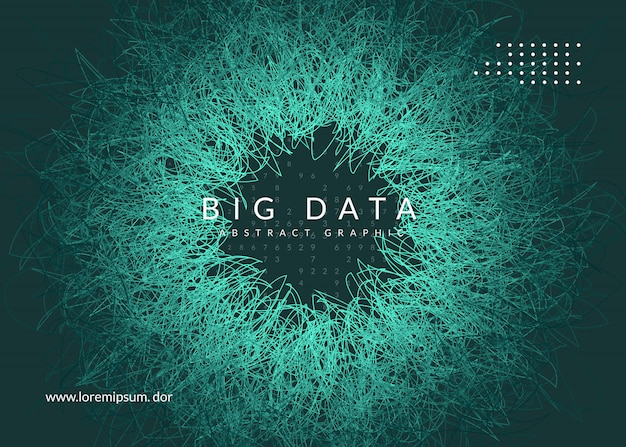 Big data background. technology for visualization, artificial intelligence Premium Vector