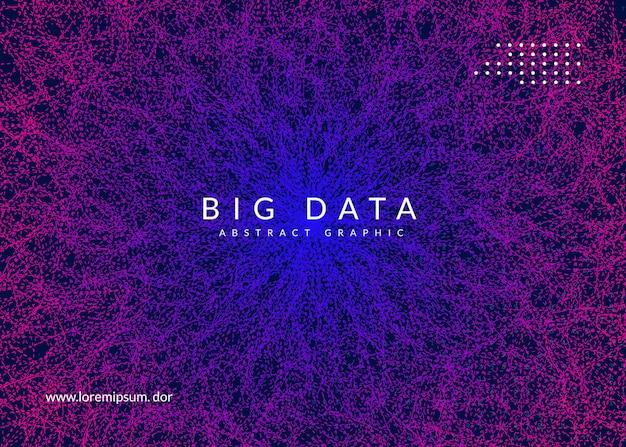 Big data background. technology for visualization Premium Vector