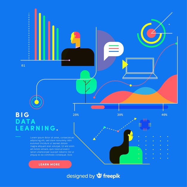 Big data background template Free Vector