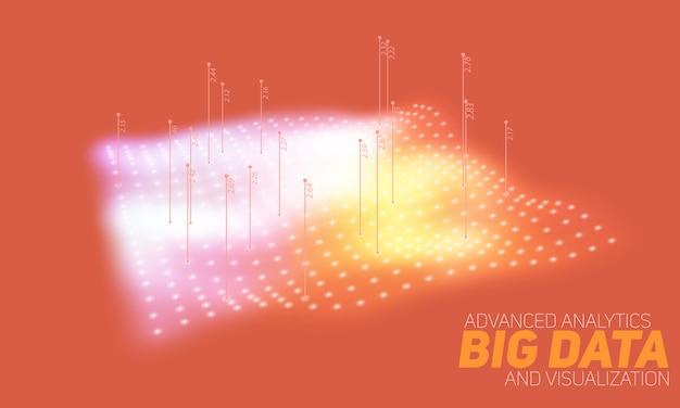 ビッグデータの背景 無料ベクター