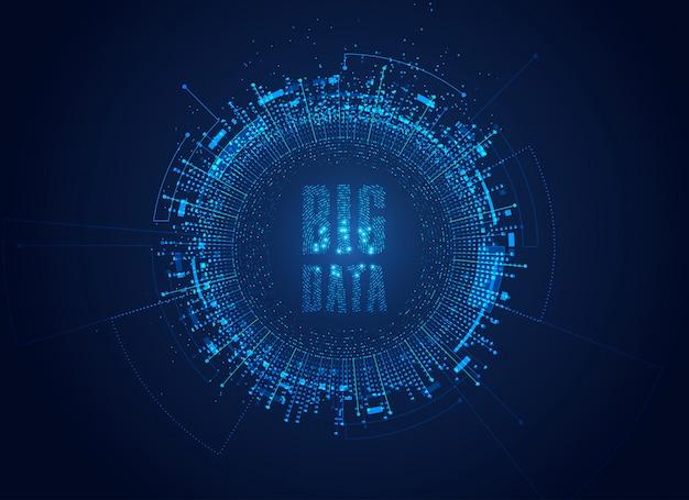Big data background Premium Vector