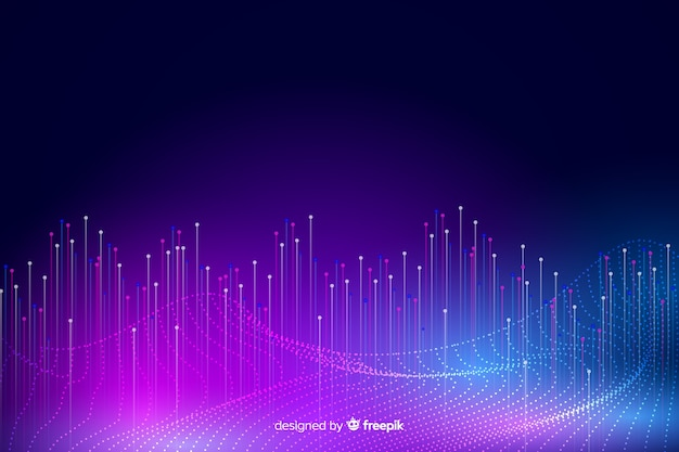 Big data concept abstract background Free Vector