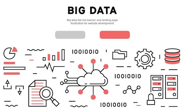 Big data infographic Premium Vector