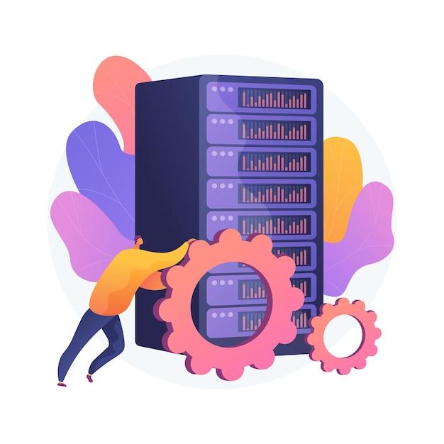 Illustrazione di concetto astratto di lavoro di grandi quantità di dati Vettore gratuito
