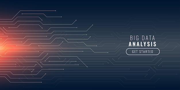 Большой фон технологии данных с линиями цепи Бесплатные векторы