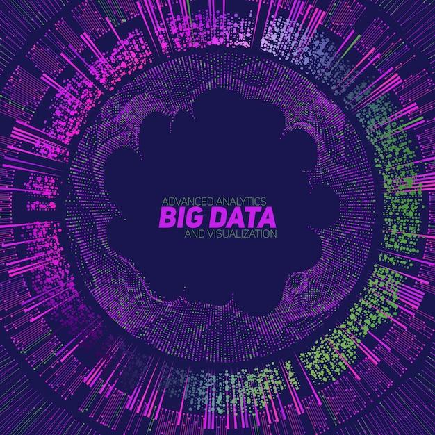 ビッグデータの可視化の背景 無料ベクター