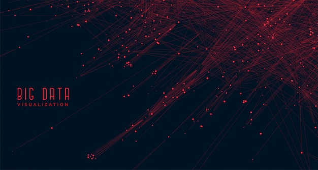 Big data visualization concept background Free Vector