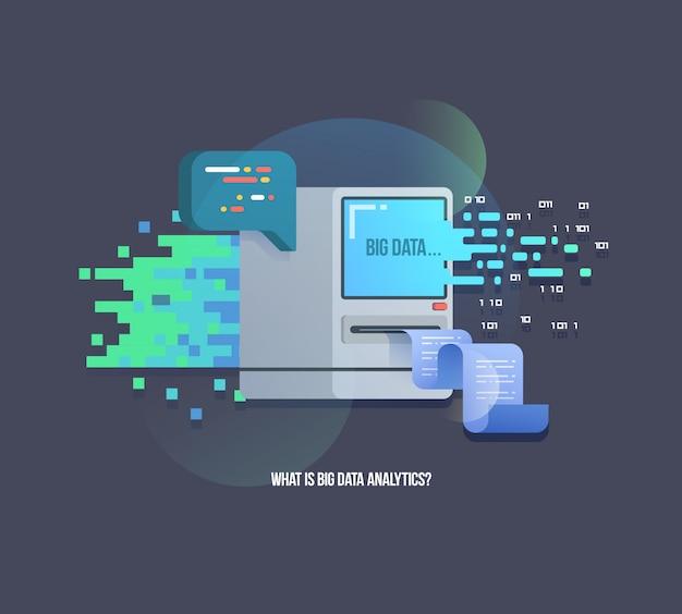 Big data иллюстрация алгоритмов компьютерного обучения Premium векторы