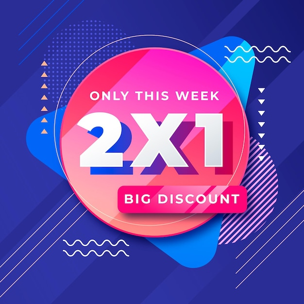Big discount offer promo banner Free Vector