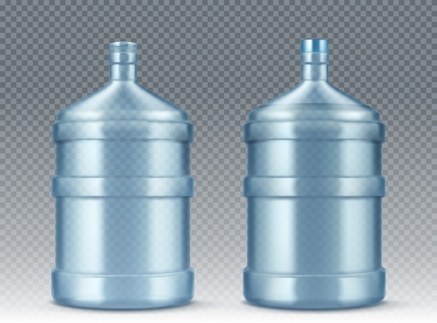Big empty bottle for water cooler realistic Free Vector