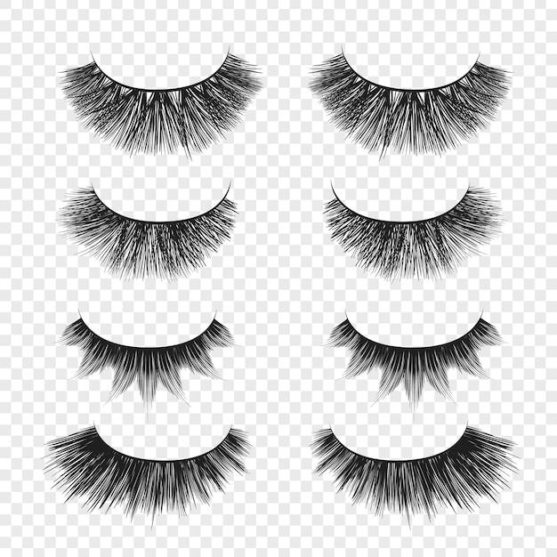 Big false eyelashes Premium Vector