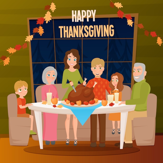 Big family together background Free Vector