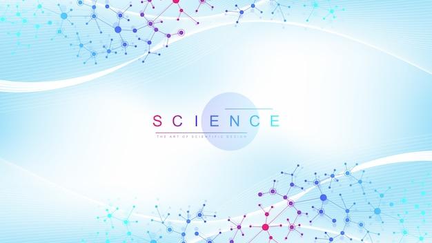 ビッグゲノムデータの視覚化。 Premiumベクター