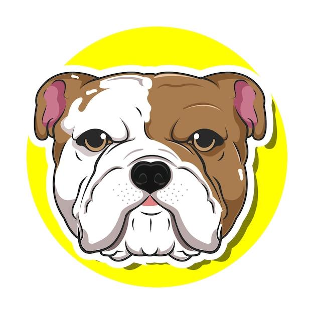Big head dog cartoon Premium Vector