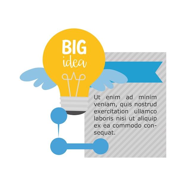 Big idea infographic design Premium Vector
