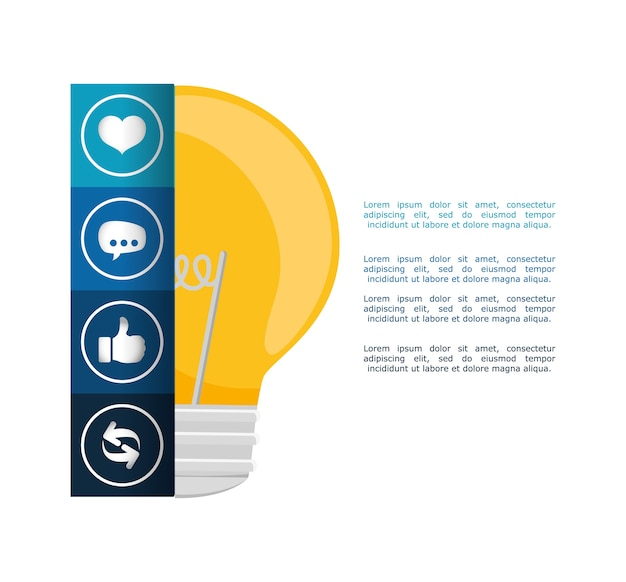 Big idea infographic design Premium Vector