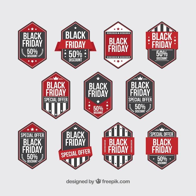 Big pack of black friday labels