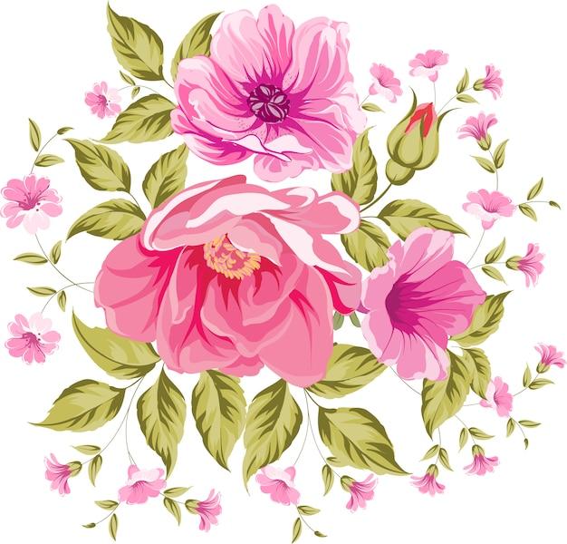 Big pink flowers vector premium download big pink flowers premium vector mightylinksfo