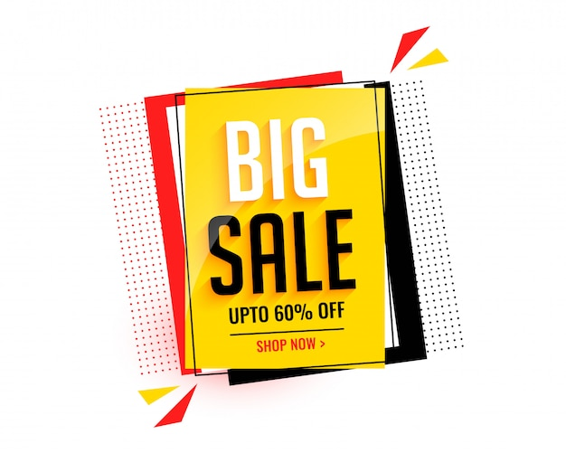Big sale abstract banner template Free Vector