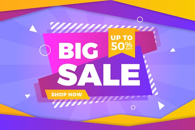 Big sale abstract colourful background Free Vector