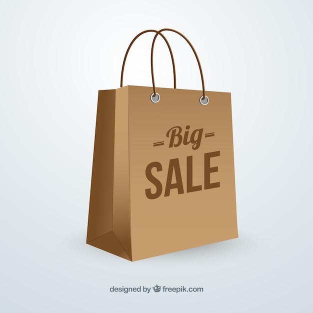 Big sale bag Free Vector