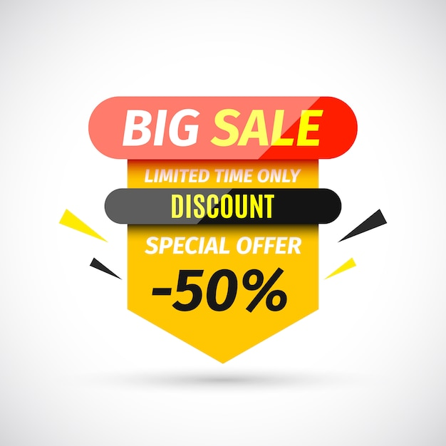 Big sale banner.  illustration. Premium Vector