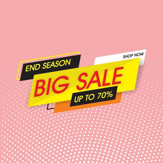 Big sale banner template Premium Vector