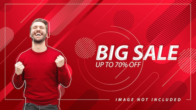 Big sale banner with abstract background Premium Vector