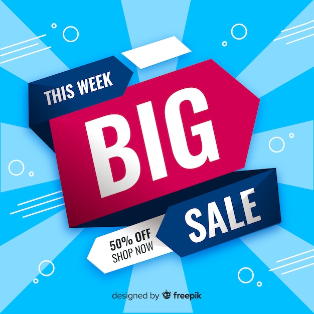 Big sale banner Free Vector