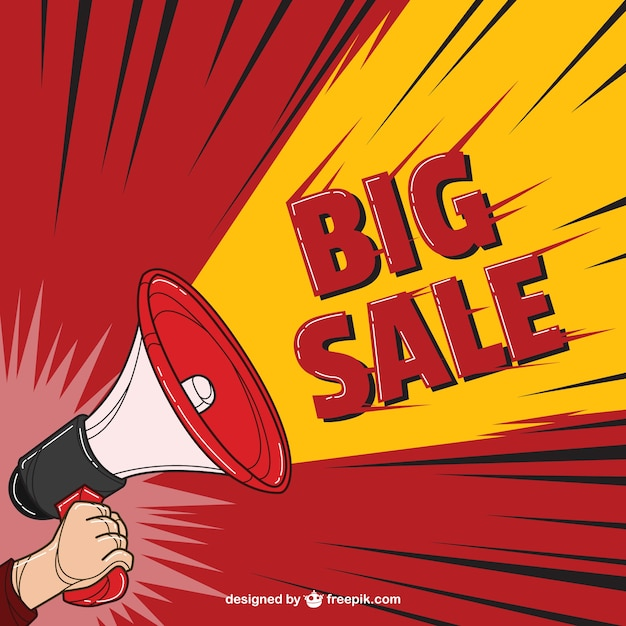 Big sale in comic style Free Vector