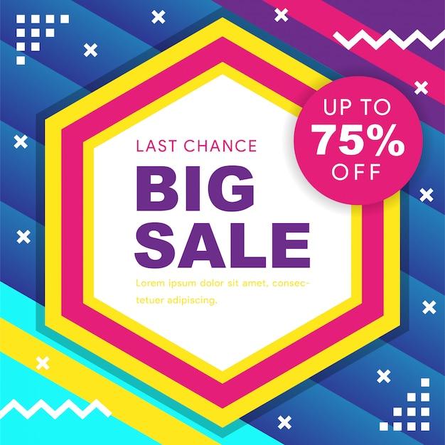 Big sale discount Premium Vector