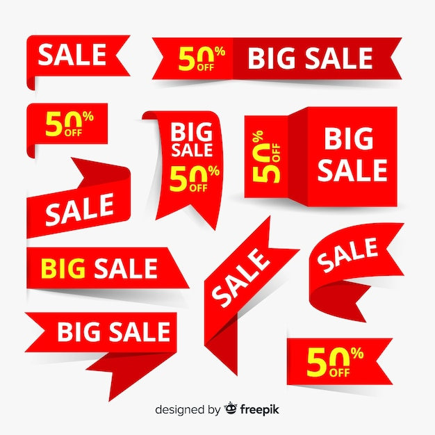 Big sale element collection Free Vector