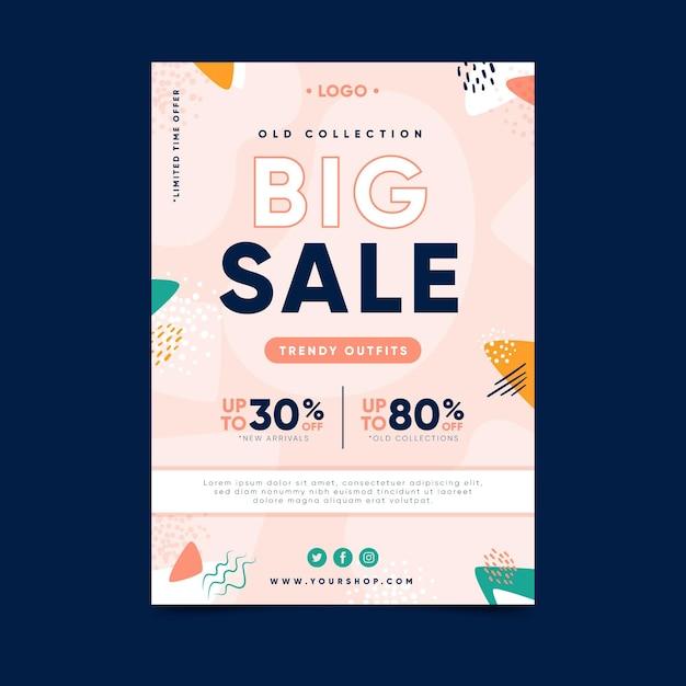 Big sale flyer template design Free Vector