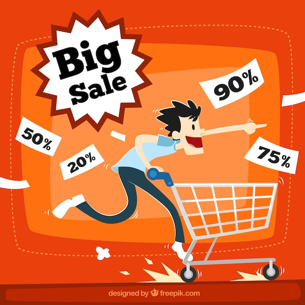 Big sale illustration Premium Vector