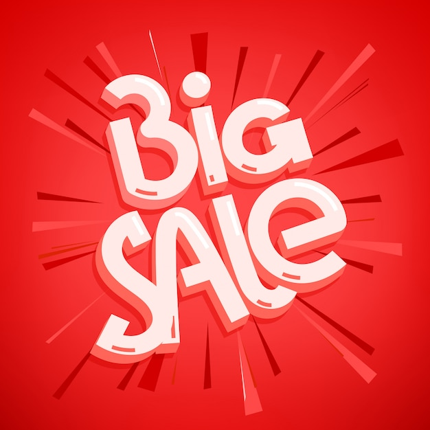 Big sale offer. lettering inscription Premium Vector