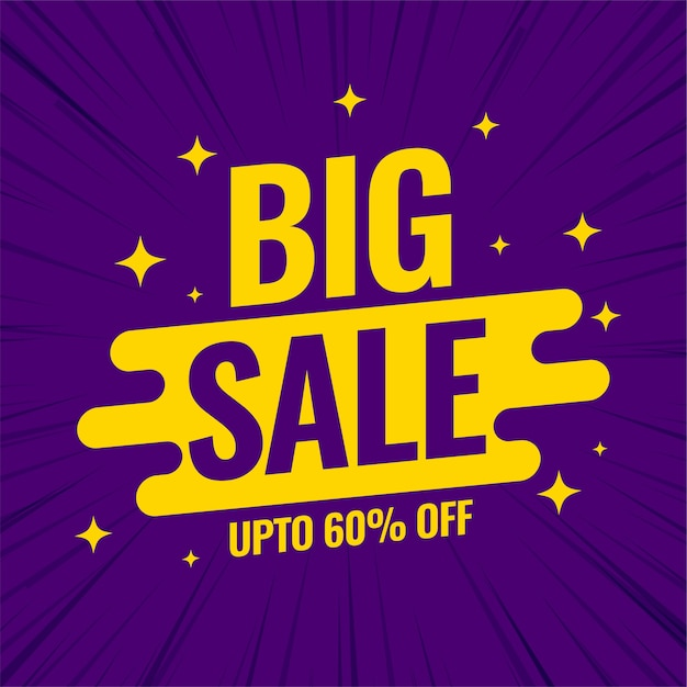 Big sale promotional banner template for shopping Free Vector