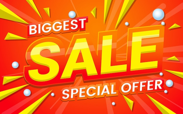 big sale template banner Vector background Free Vector