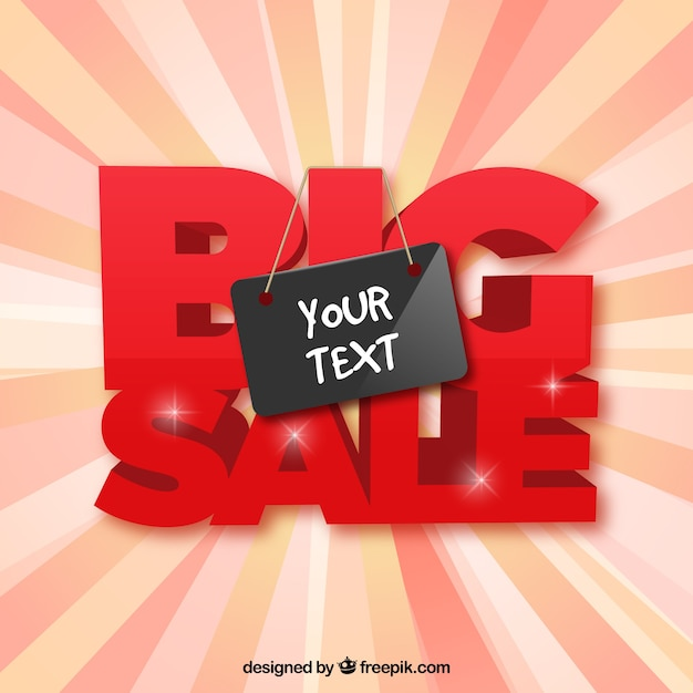 Big sale template Vector – For Sale Template Free