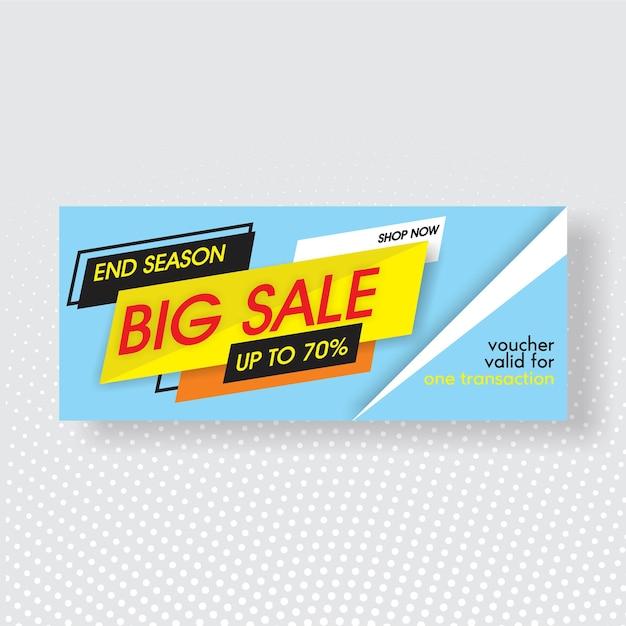 Big sale voucher template Premium Vector